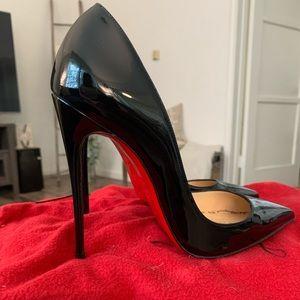 Christian Louboutin So Kate 120 Black Patent